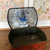 Vintage Floral Bluebird Tin