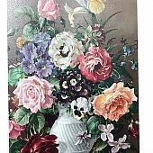 Vintage Harold Clayton Floral Picture