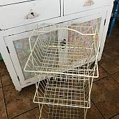 Vintage White Wire Vegetable Rack