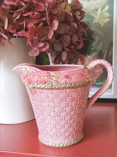 Vintage Pink Floral Jug