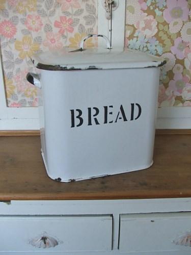 Vintage Enamel Bread Bin