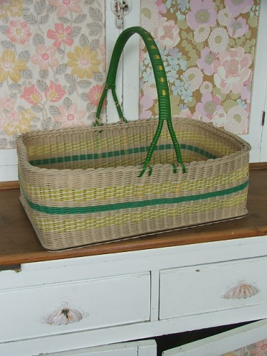 1950's Wicker Shopping Basket