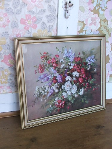 Vintage Vernon Ward Floral Print