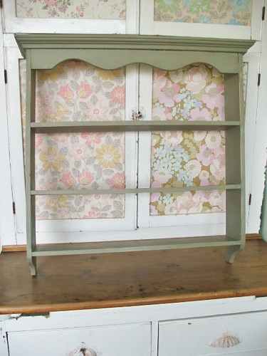 Painted Wooden Shelf Unit
