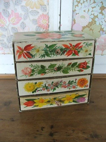 Vintage Chocolate Box Drawers