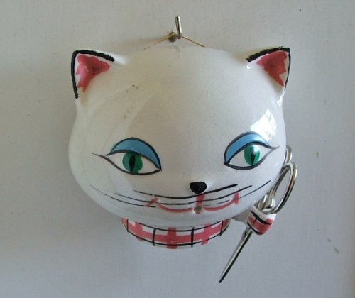 Vintage 1960's Cat String Holder