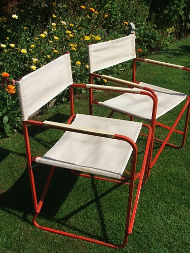 Pair of Vintage Folding Deckchairs
