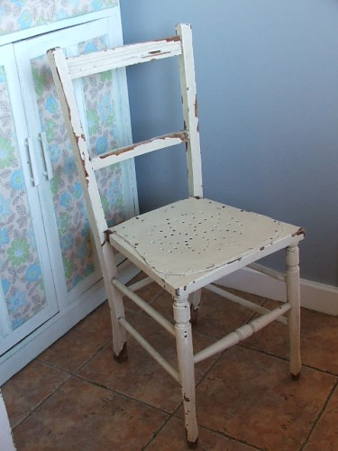 Chippy Painted Wooden Chair