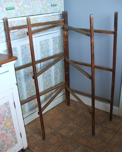 Antique Wooden Clothes Airer