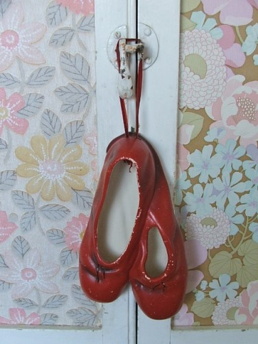 Vintage Red Ballet Shoes