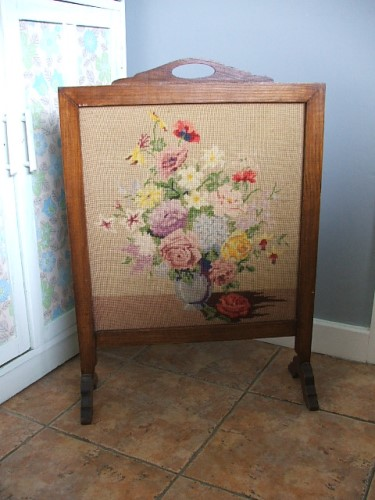 Floral Tapestry Firescreen