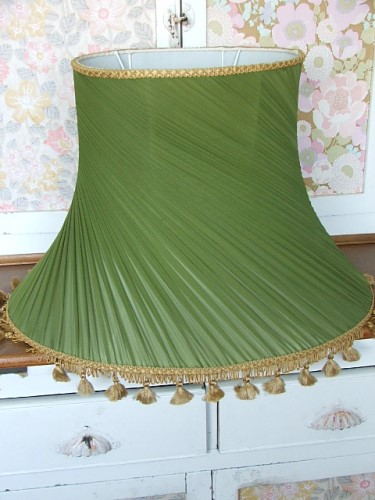 Vintage Green Lampshade