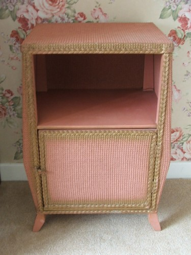 Vintage Wicker Bedside Cabinet