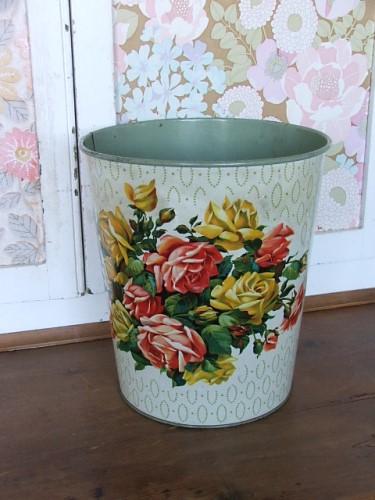 Floral Waste Bin