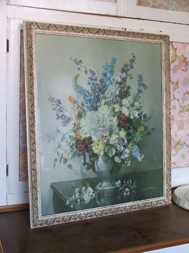 Roses and Delphiniums by Vernon Ward