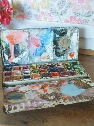 Vintage Artist Paintbox (2)