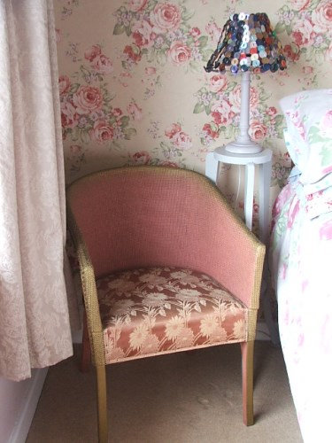 Dusty Pink Wicker Chair