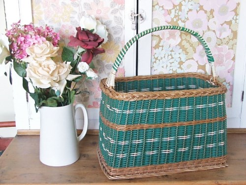 Gorgeous 1950's Wicker Basket