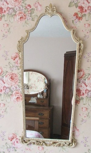 Long Ornate Wall Mirror